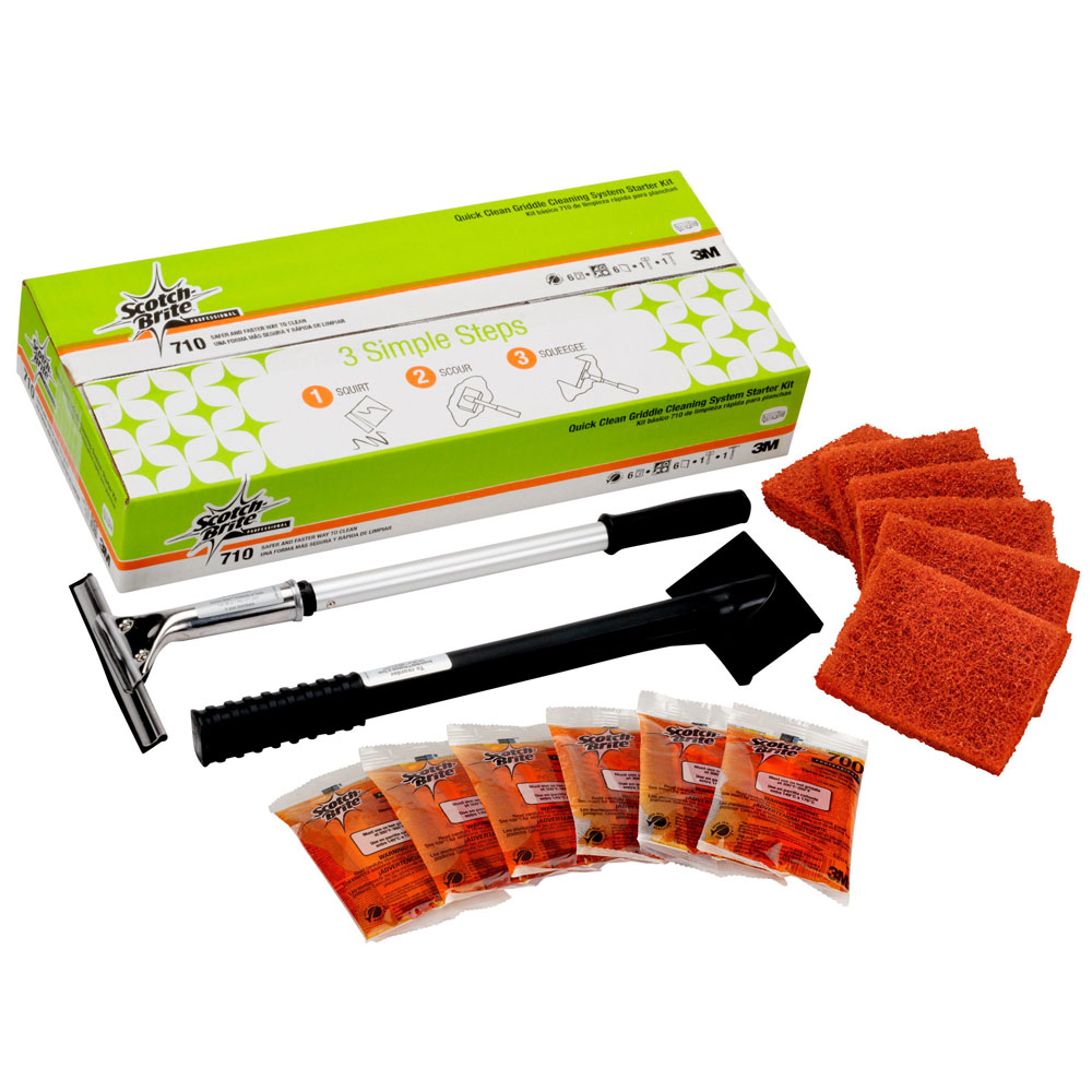 3M Scotch-Brite Quick Clean Griddle Cleaning System Starter Kit