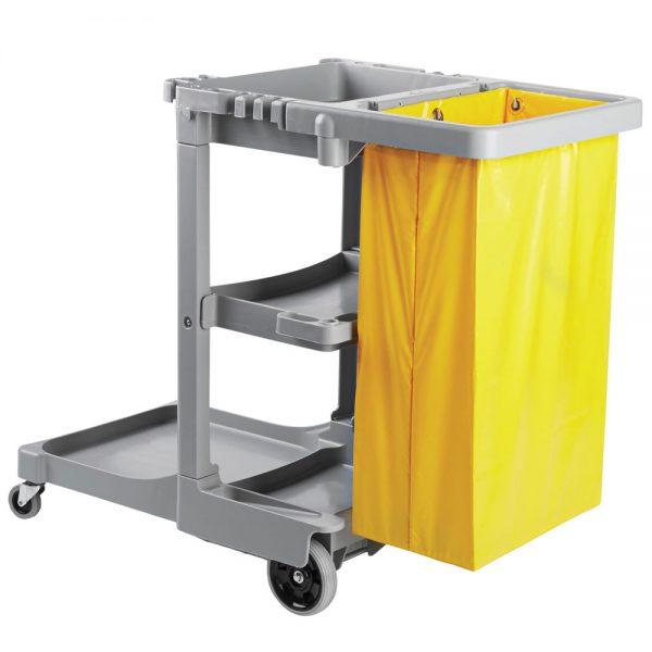 Boardwalk Three Shelf Janitor Cart