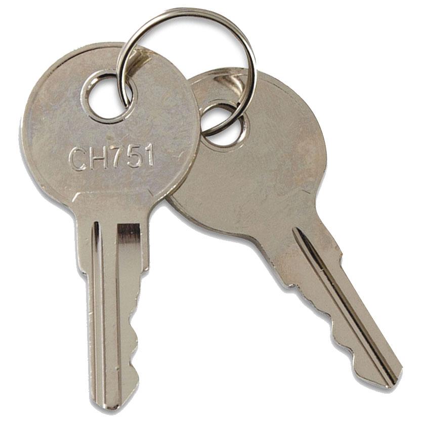 Locking cabinet keys