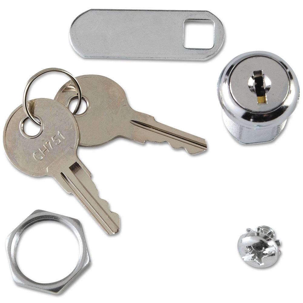 Locking cabinet lock and keys