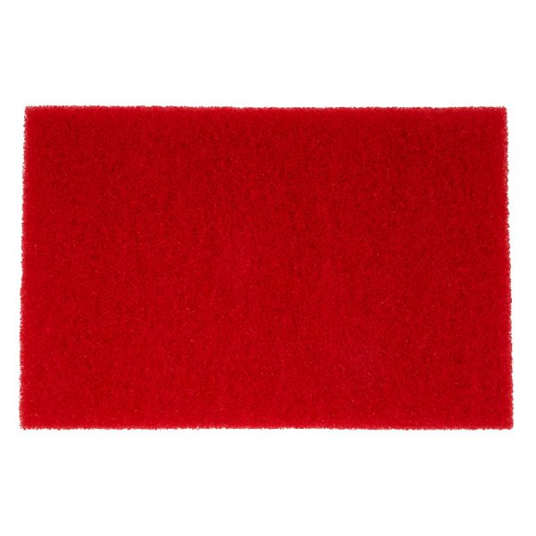 "12"" x 18"" Red Cleaning Floor Pads"