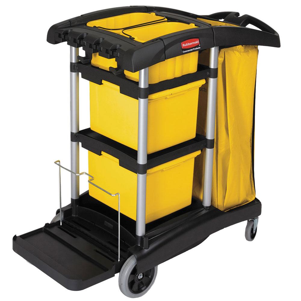 Rubbermaid Microfiber High-Capacity Janitor Cart