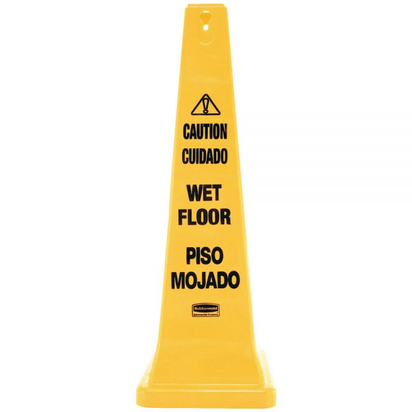 Wet Floor Caution High Visibility Cone