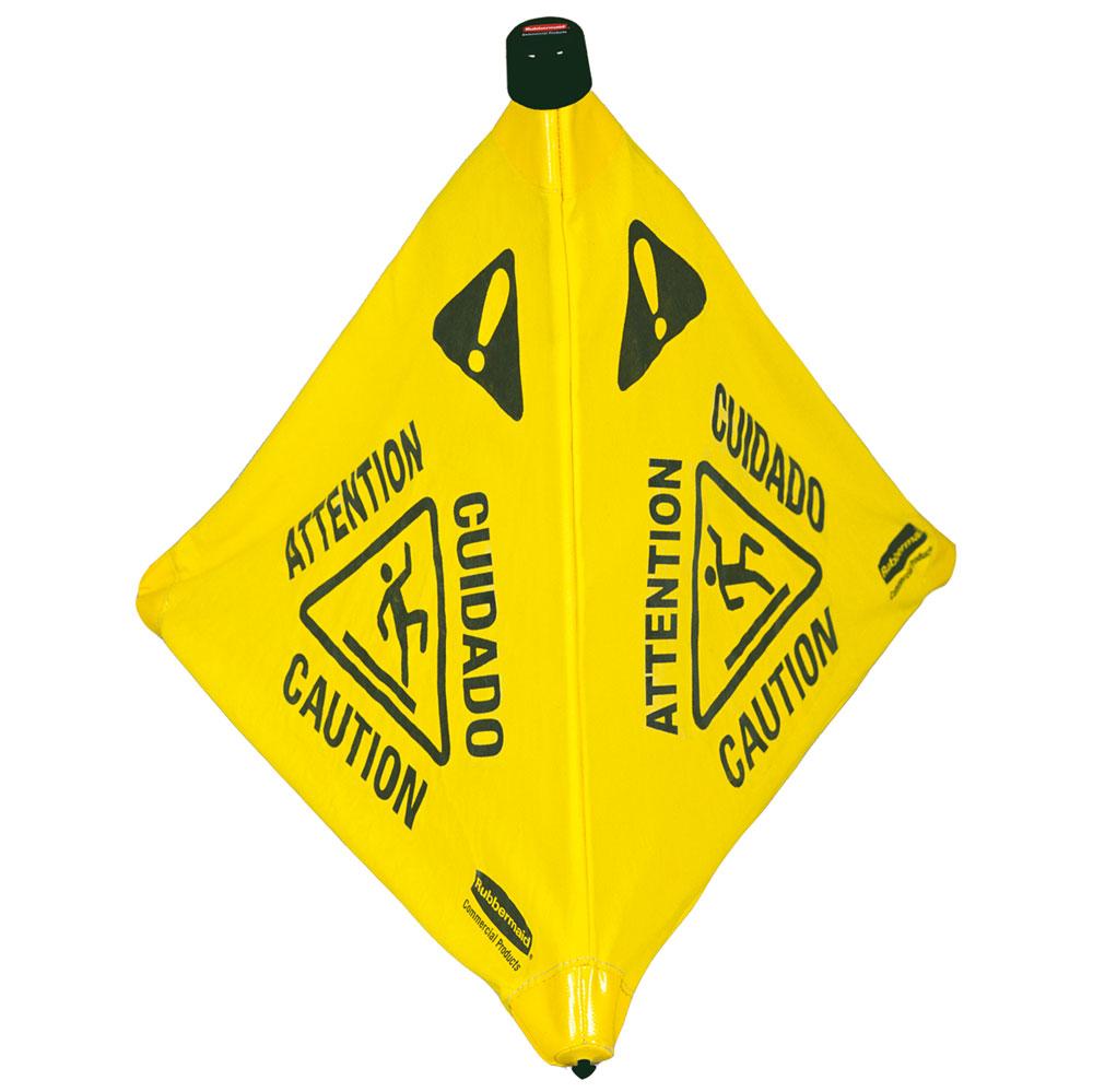 Wet Floor Caution Pop-Up Floor Cone