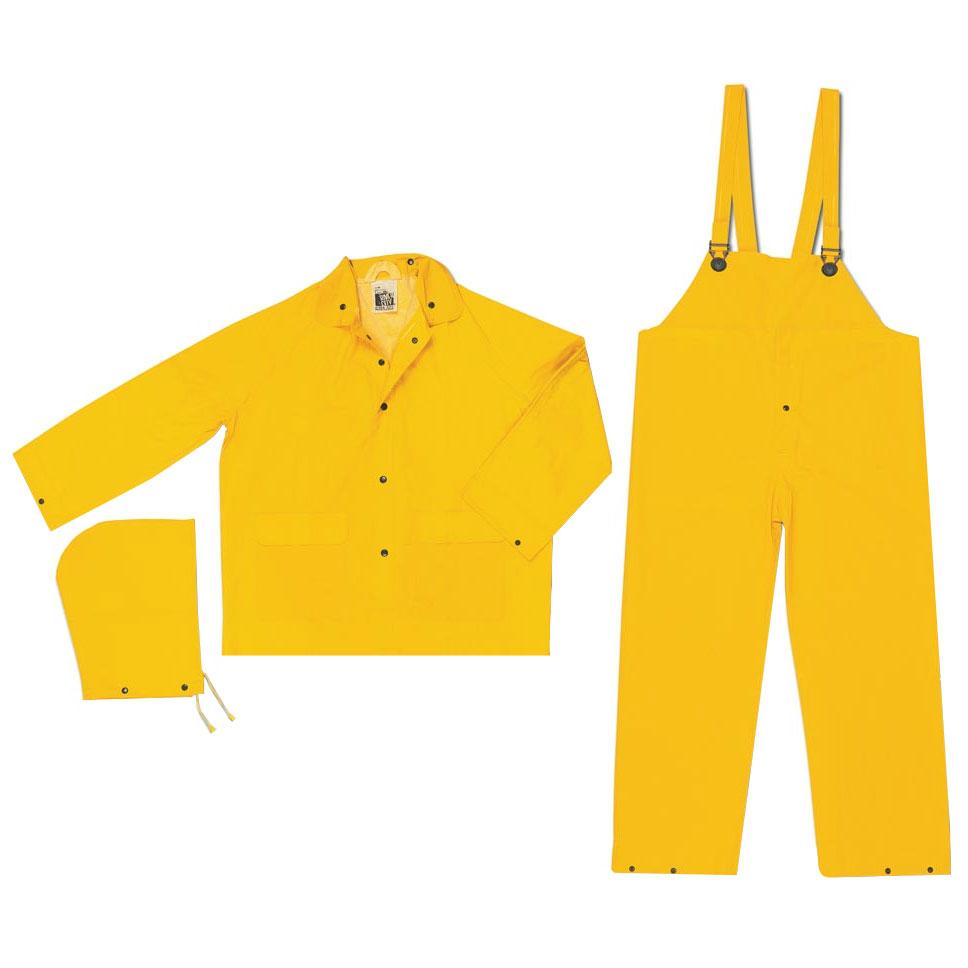 3-Piece PVC/Polyester Rain Suit