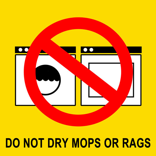 Do Not Dry Mops or Rags Magnet